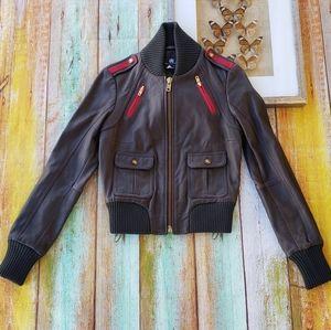 Rock & Republic Keagan Leather Bomber Jacket M